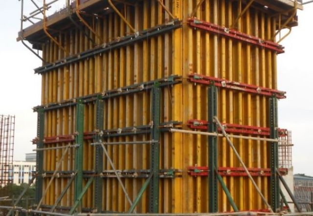Shuttering Details For Wall : Column core wall system formwork products zulin s e
